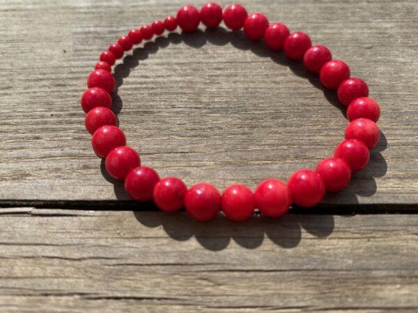 Bransoletka Koral Czerwony 4 i 7mm