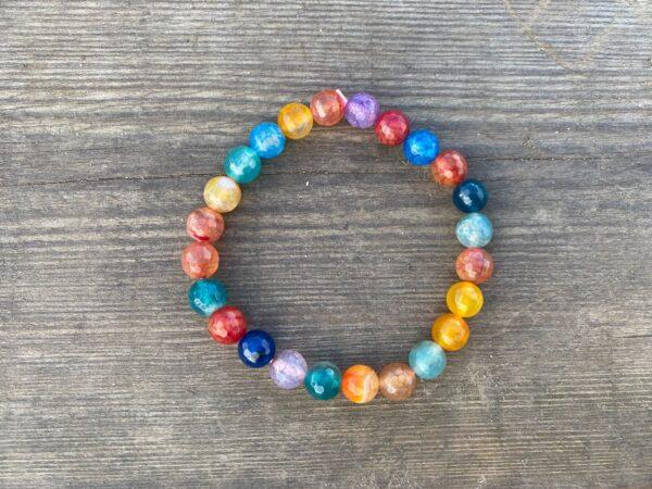 Bransoletka Kolorowe Agaty 8mm