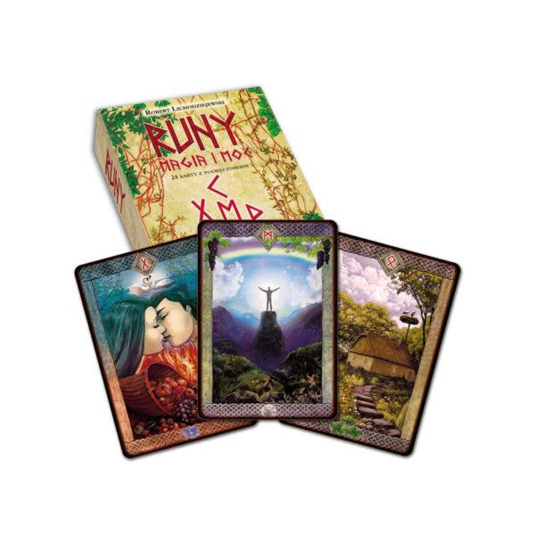 Runy magia i moc – książka + karty