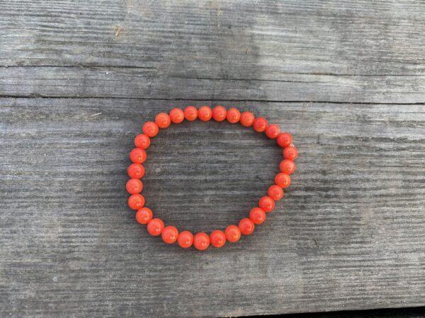 Bransoletka Koral Pomarańczowy 7 mm