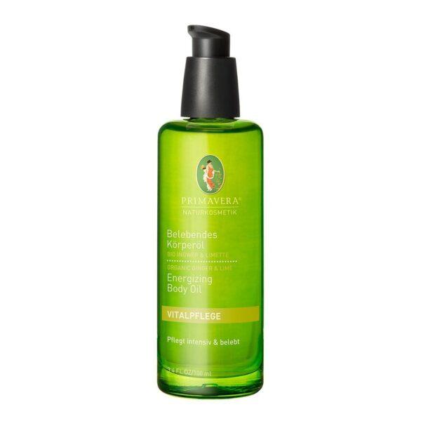 Orzeźwiający olejek do ciała z organicznym imbirem i limonką - 100 ml - Primavera