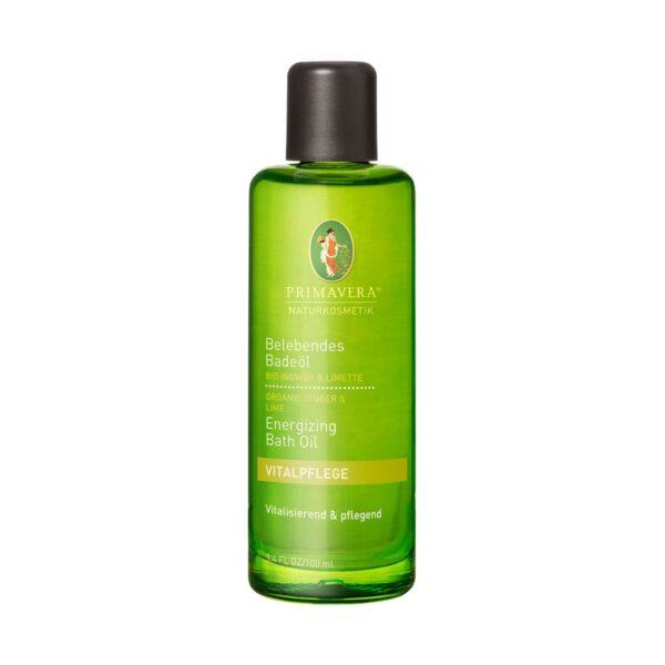 Orzeźwiający olejek do kąpieli Organiczny imbir i limonka - 100 ml - Primavera