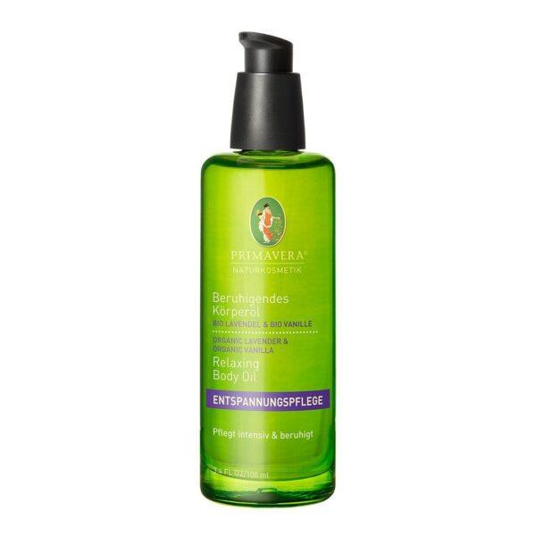 Kojący olejek do ciała organiczna lawenda i organiczna wanilia - 100 ml - Primavera