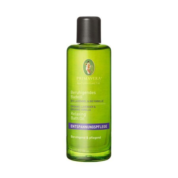 Kojący olejek do kąpieli organiczna lawenda i organiczna wanilia - 100 ml - Primavera