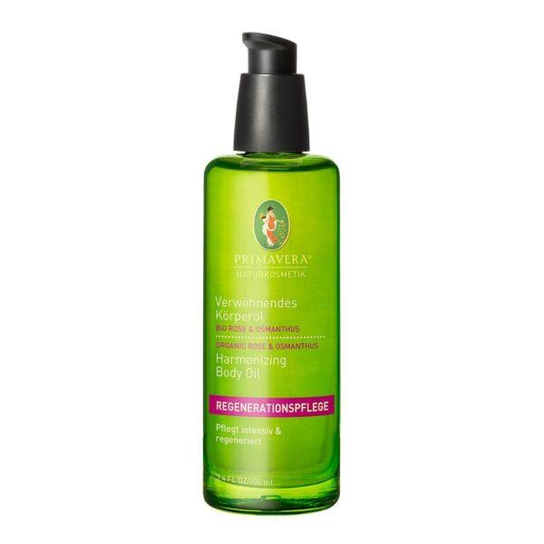 Rozpieszczający organiczny olejek do ciała z róży i osmantusa - 100 ml - Primavera