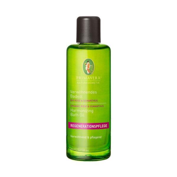 Rozpieszczający olejek do kąpieli Organiczna róża i osmantus - 100 ml - Primavera