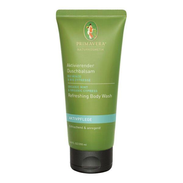 Aktywizujący balsam pod prysznic z organiczną miętą i cyprysem - 200 ml - Primavera